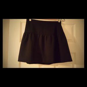 J Crew Black mini skirt.
